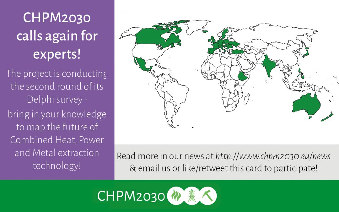 CHPM2030 Delphi Survey: call for geothermal and minerals experts